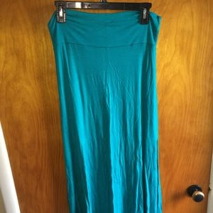 Turquoise Maxi Skirt Size Large